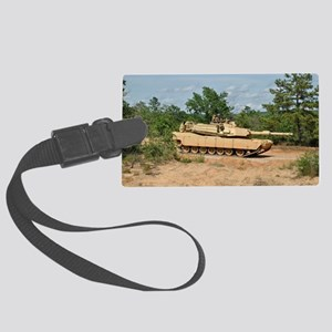 Abrams Main Battle Tank Large Luggage Tag