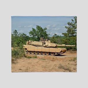 Abrams Main Battle Tank Throw Blanket