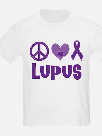 Lupus Peace Love Cure T-Shirt
