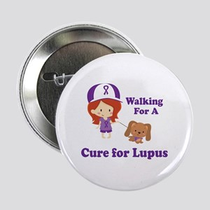 """Lupus Walk for a Cure 2.25"""" Button"""