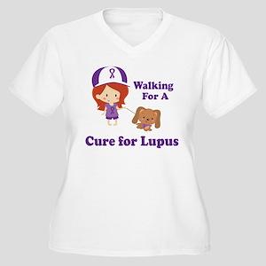 Lupus Walk for a Women's Plus Size V-Neck T-Shirt