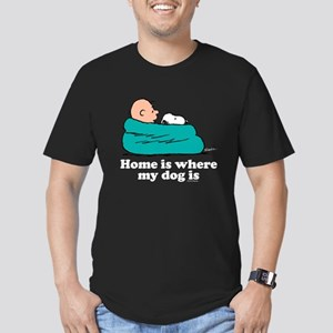 Charlie Brown: Home is Men's Fitted T-Shirt (dark)