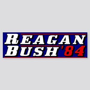 Reagan Bush '84 classic 3D Bumper Sticker