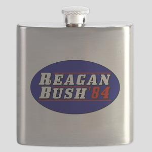 Reagan Bush '84 classic 3D Flask