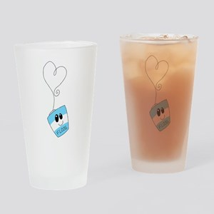 Love Floss Drinking Glass