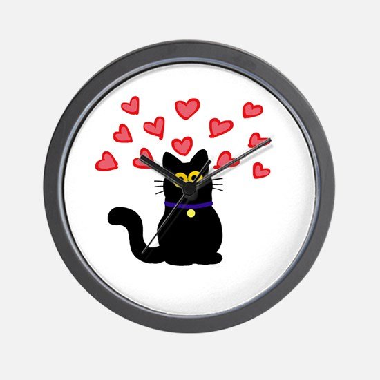 Cute Adorable kitty Wall Clock
