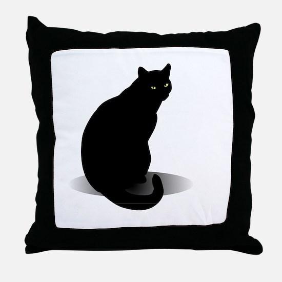 Unique Black cat Throw Pillow