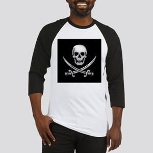 Glassy Skull and Cross Swords Baseball Jersey