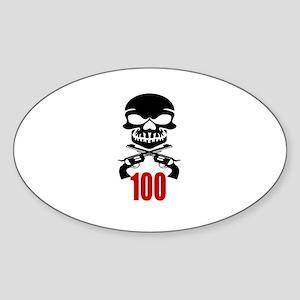 100 Birthday Designs Sticker (Oval)