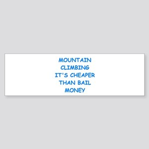 mountain climbing Bumper Sticker