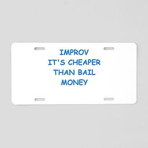 improv Aluminum License Plate