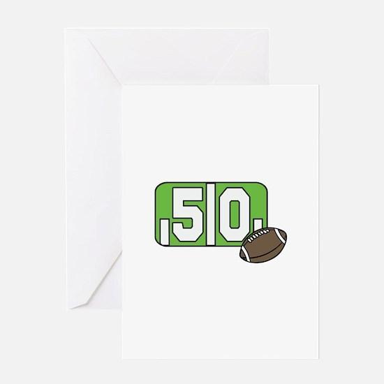 50 Yard Line Greeting Cards