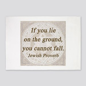 If You Lie On the Ground 5'x7'Area Rug
