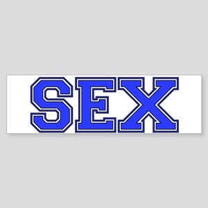 Sex Varsity Letter Bumper Sticker