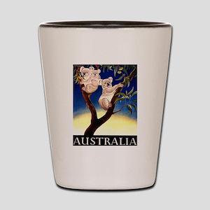 1956 Australia Koalas Vintage Travel Poster Shot G
