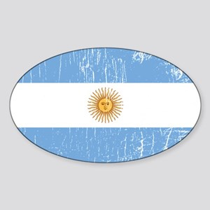 Vintage Argentina Oval Sticker