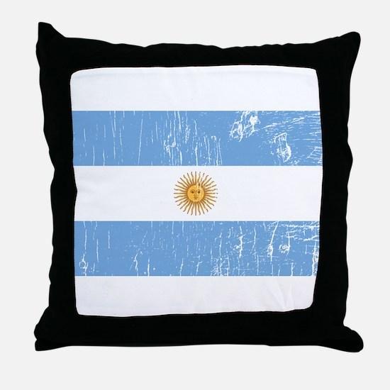 Vintage Argentina Throw Pillow