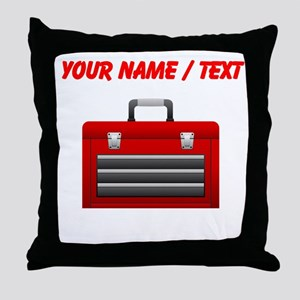Custom Red Toolbox Throw Pillow