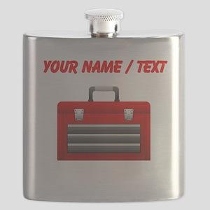 Custom Red Toolbox Flask