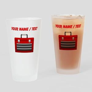 Custom Red Toolbox Drinking Glass