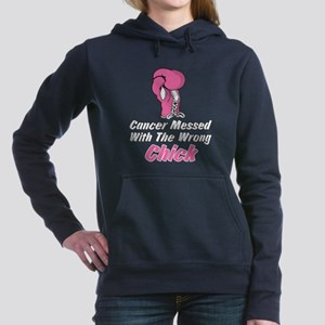 Cancer Messed With The W Women's Hooded Sweatshirt