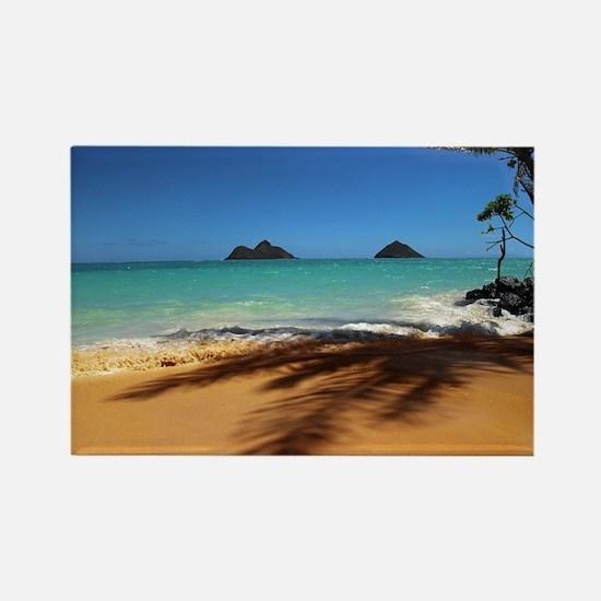 Hawaii - Lanikai Beach Rectangle Magnet