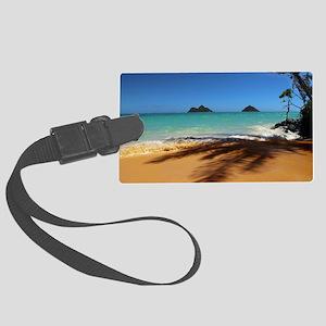 Hawaii - Lanikai Beach Large Luggage Tag