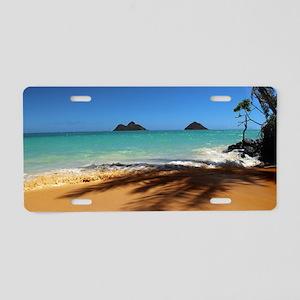 Hawaii - Lanikai Beach Aluminum License Plate