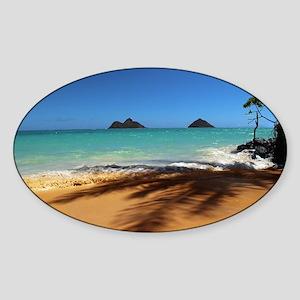 Hawaii - Lanikai Beach Sticker (Oval)