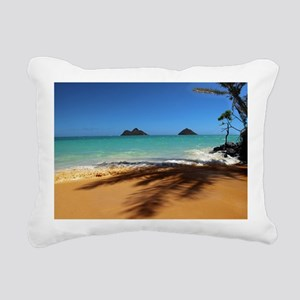 Hawaii - Lanikai Beach Rectangular Canvas Pillow