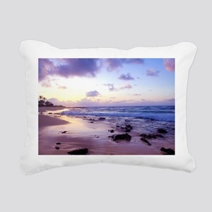 Hawaii - Sandy Beach -2 Rectangular Canvas Pillow