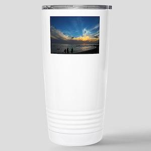 Hawaii - Waikiki Beach- Stainless Steel Travel Mug