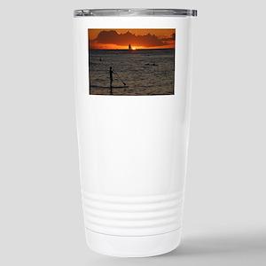 Hawaii - Waikiki Sunset Stainless Steel Travel Mug