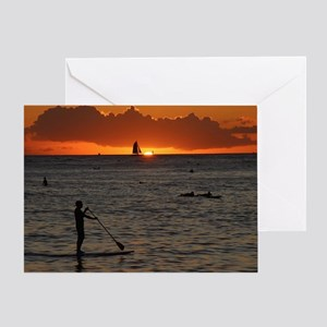 Hawaii - Waikiki Sunset-1 Greeting Card