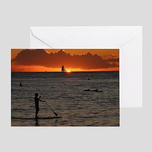Hawaii - Waikiki Sunset-1 Greeting Card