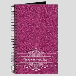 Pink Glitter Journal