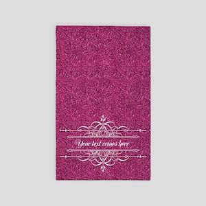 Pink Glitter 3'x5' Area Rug