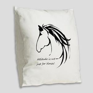 Attitude in not just for Horses Fun quote Burlap T