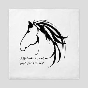 Attitude In Not Just For Horses Fun Queen Duvet