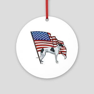 USA Greyhound Ornament (Round)