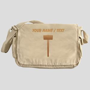 Custom Wooden Sledgehammer Messenger Bag