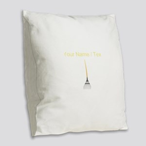 Custom Rake Burlap Throw Pillow