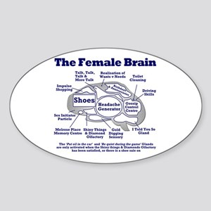 The Thinking Woman's Oval Sticker