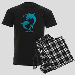 CUSTOM TEXT Cute Dolphins Pajamas