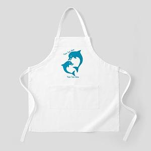 CUSTOM TEXT Cute Dolphins Apron