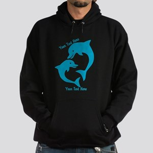 CUSTOM TEXT Cute Dolphins Hoodie