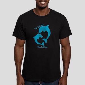 CUSTOM TEXT Cute Dolphins T-Shirt
