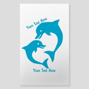 CUSTOM TEXT Cute Dolphins Sticker