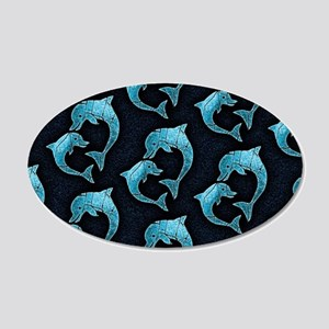 Dolphins Worn Pattern Wall Decal