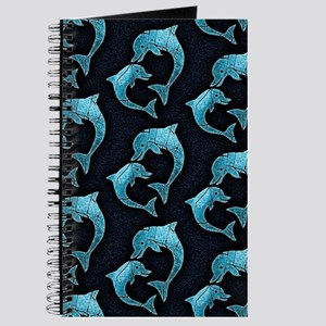 Dolphins Worn Pattern Journal